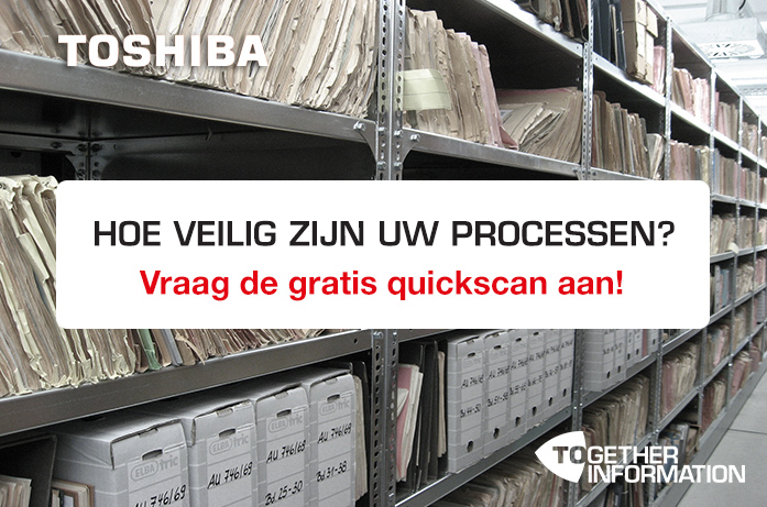 Informatie- en documentbeveiliging: grip op je processen, voorkom beveiligings- en privacy incidenten, borg de continuïteit van de bedrijfsvoering met de oplossingen van Toshiba.